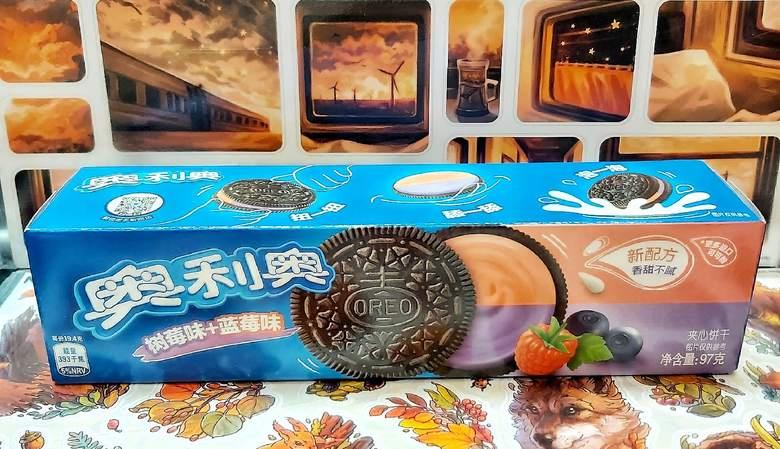 Печенье Oreo с начинкой малина и черника