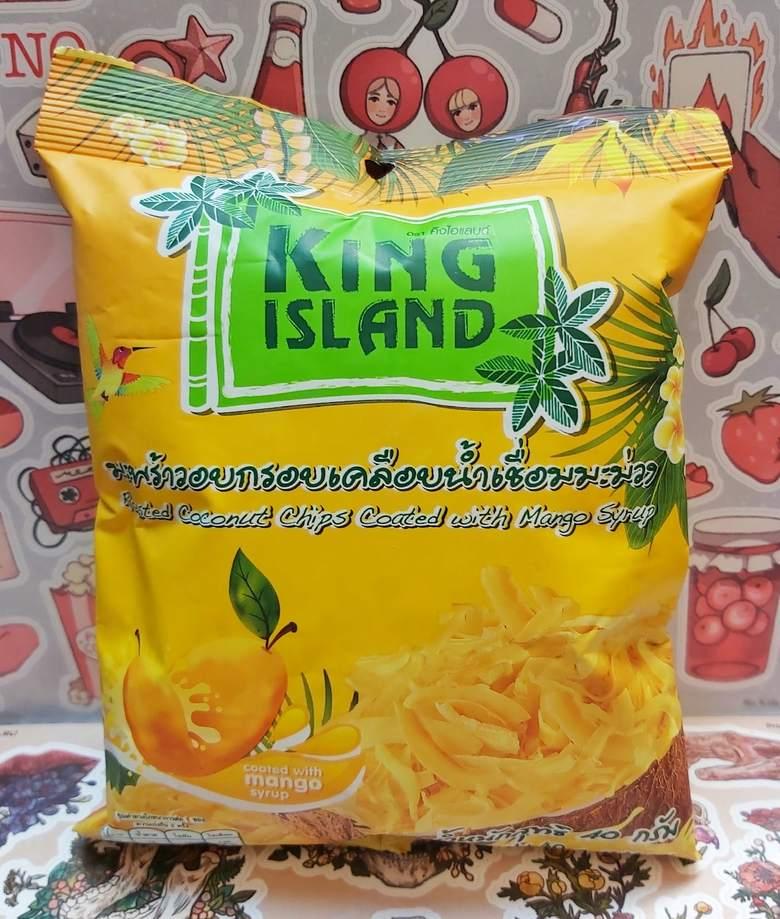 """Кокосовые чипсы """"KING ISLAND"""" с манго"""