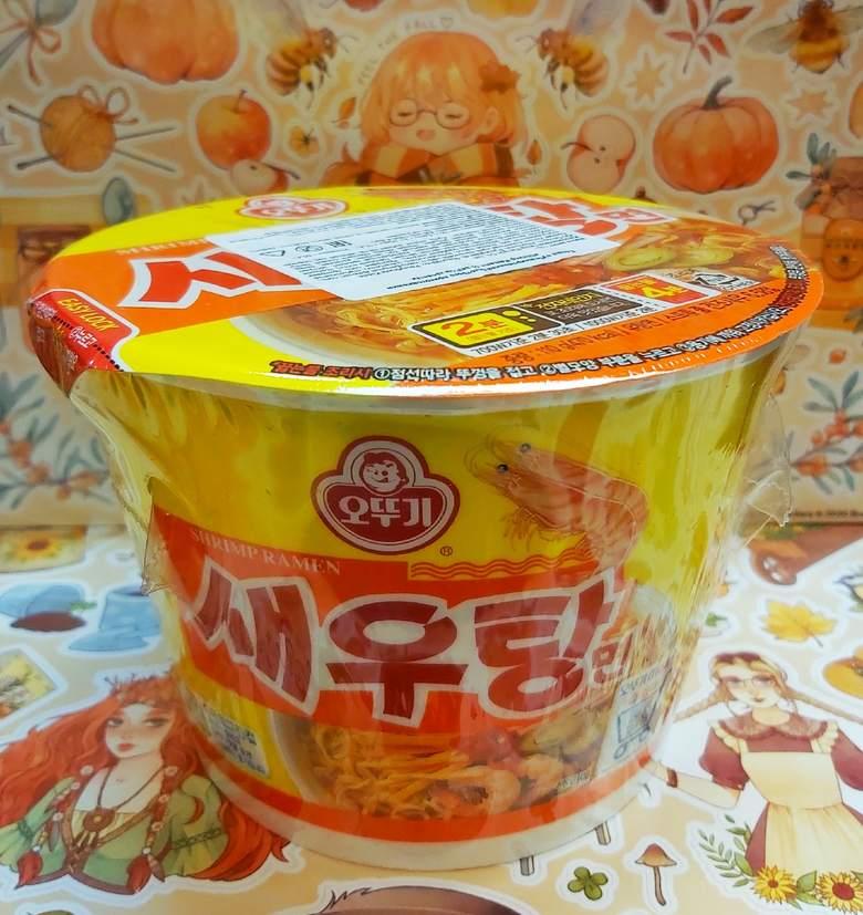 Лапша Ottogi со вкусом креветки