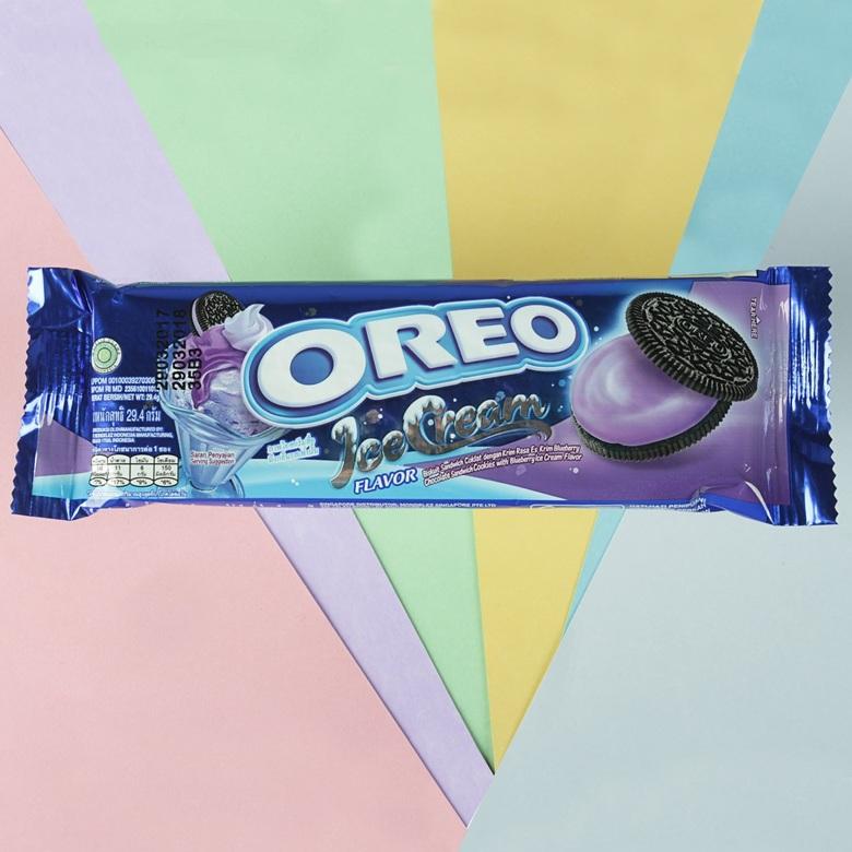 Печенье Oreo со вкусом мороженого и голубики