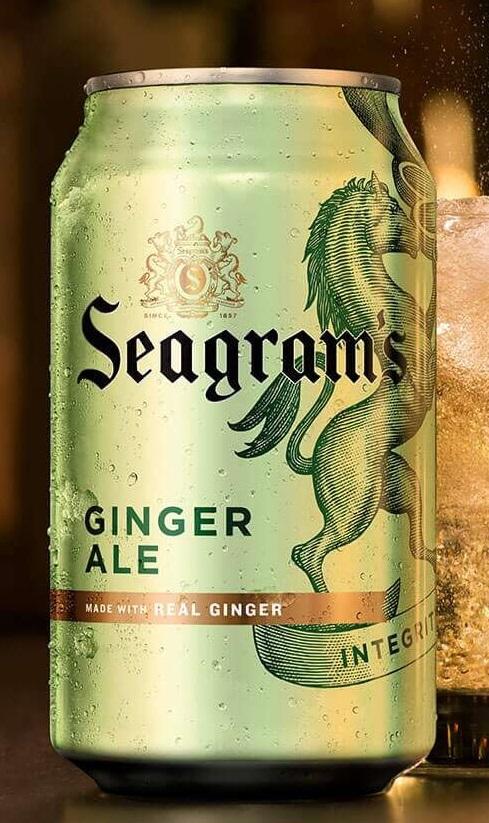 Лимонад Seagram's. Ginger Ale