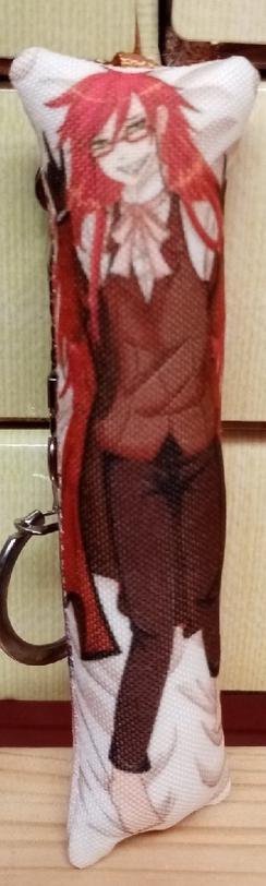 Мини-дакимакура Тёмный дворецкий/Kuroshitsuji (Грелль)