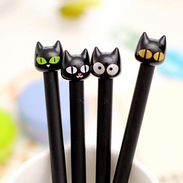 Ручка Чёрный котик