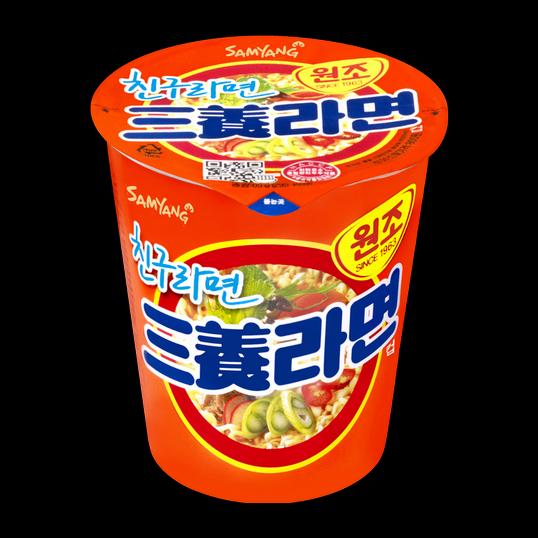 """Лапша быстрого приготовления со вкусом бекона """"Samyang Ramyon. Friend ramen"""""""