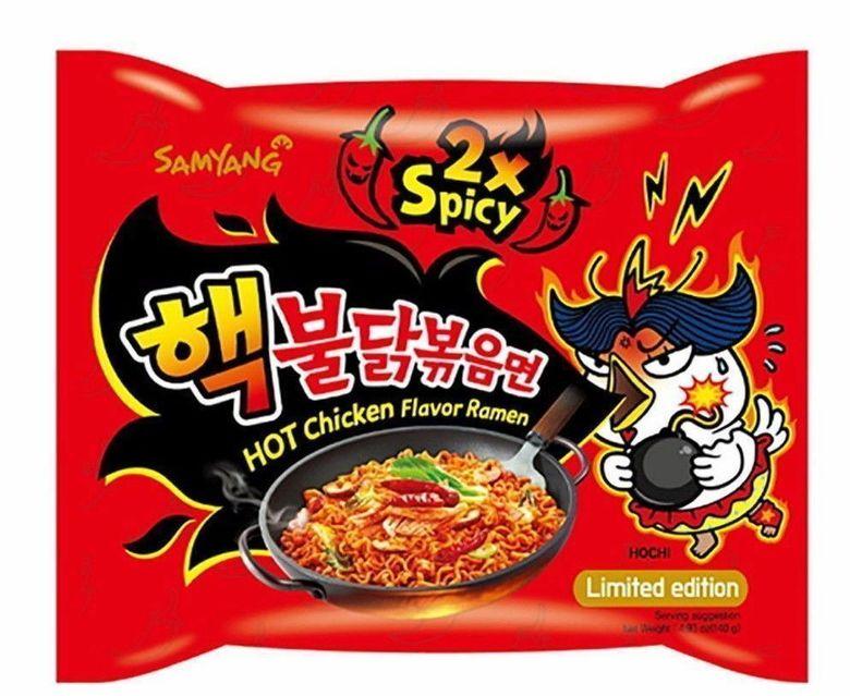 """Лапша быстрого приготовления со вкусом курицы (очень острая) """"Hot chicken flavor ramen 2x spicy"""""""