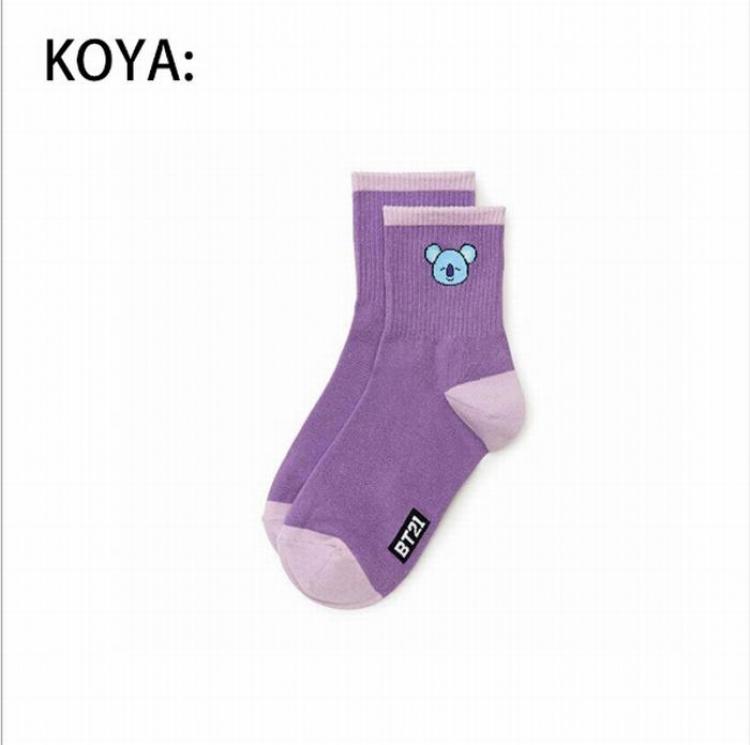 Носки BTS/BT21 (Koya)