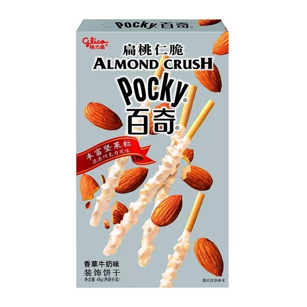 Хлебные палочки «Pocky» almond со вкусом белого шоколада и орехов