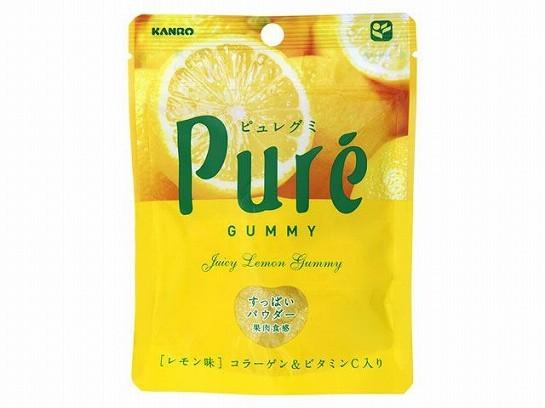 Kanro Pure жевательный мармелад, Лимон