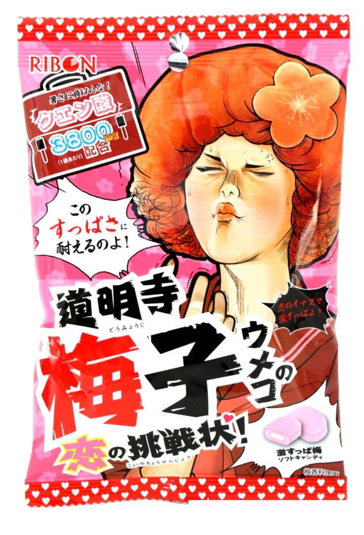 Жевательные конфеты с кислой начинкой, вкус сливы