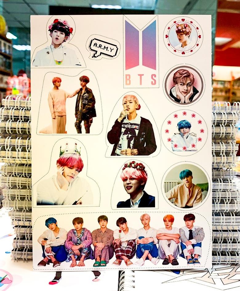 Лист наклеек BTS (5)