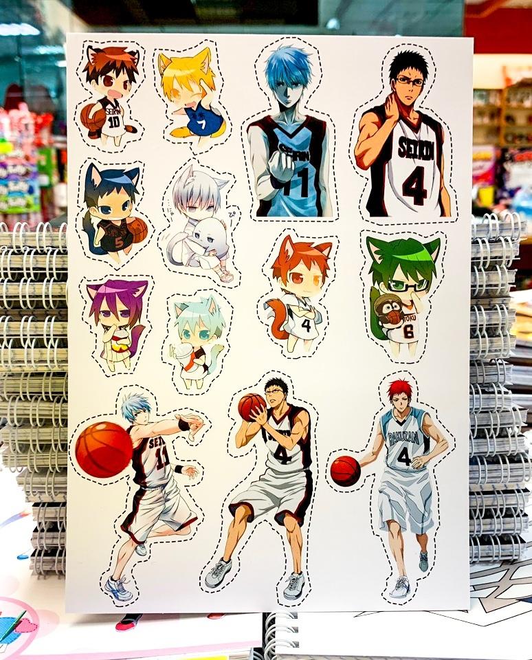 Лист наклеек Баскетбол Куроко / Kuroko no Basuke