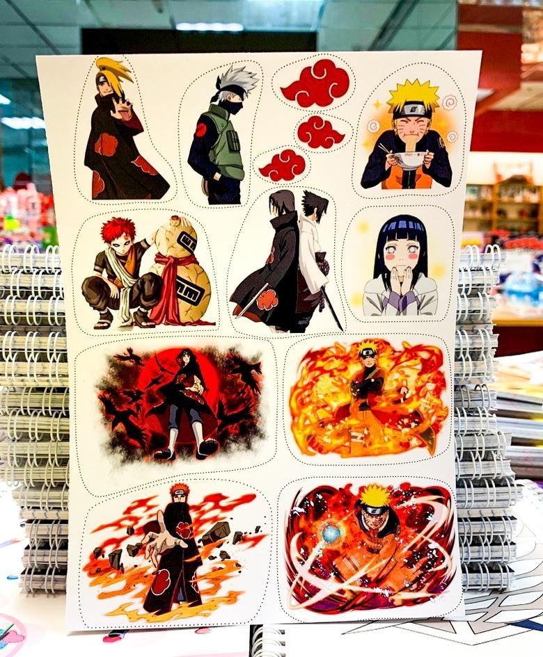 Лист наклеек Наруто / Naruto (2)