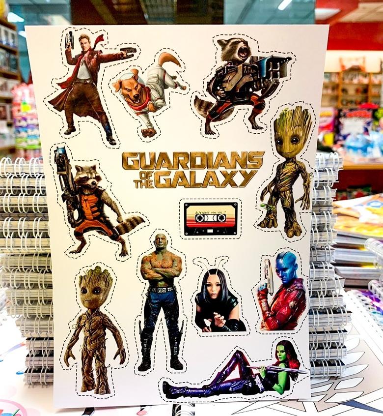 Лист наклеек Стражи галактики / Guardians of the Galaxy