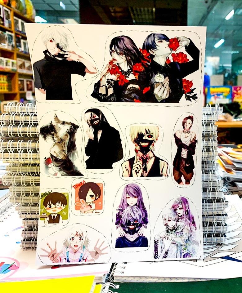 Лист наклеек Токийский гуль/Tokyo Ghoul (3)