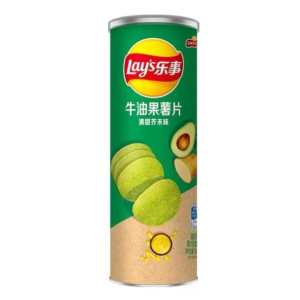 Чипсы «Lay's» stax из картошки и авокадо со вкусом васаби