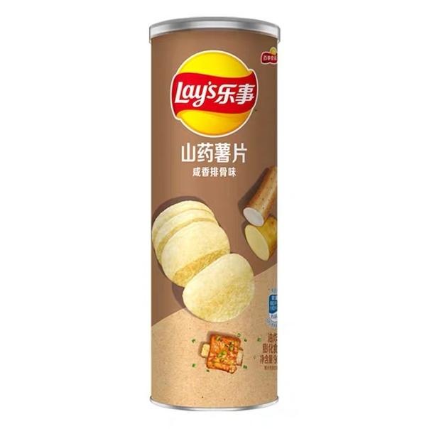 Чипсы «Lay's» stax из картошки и батата со вкусом свинины