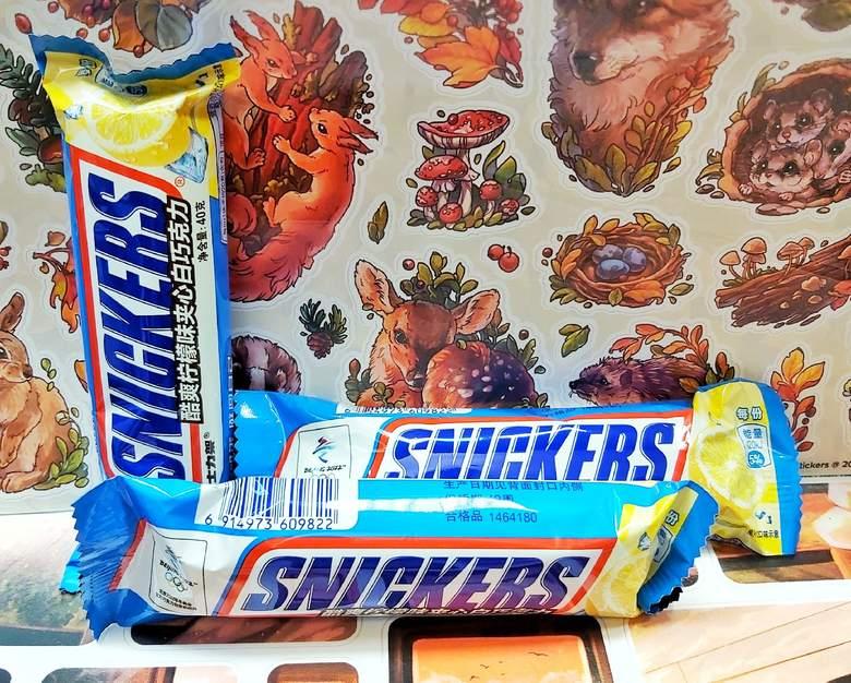 Шоколадный батончик Snickers со вкусом лимона