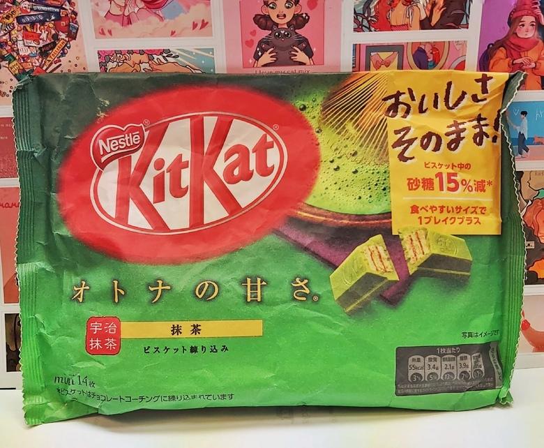 Шоколад Kit Kat со вкусом зеленого чая