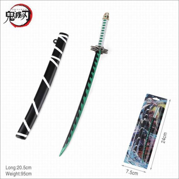 Декоративная катана Клинок, рассекающий демонов/Demon Slayer: Kimetsu no Yaiba (зелёная)