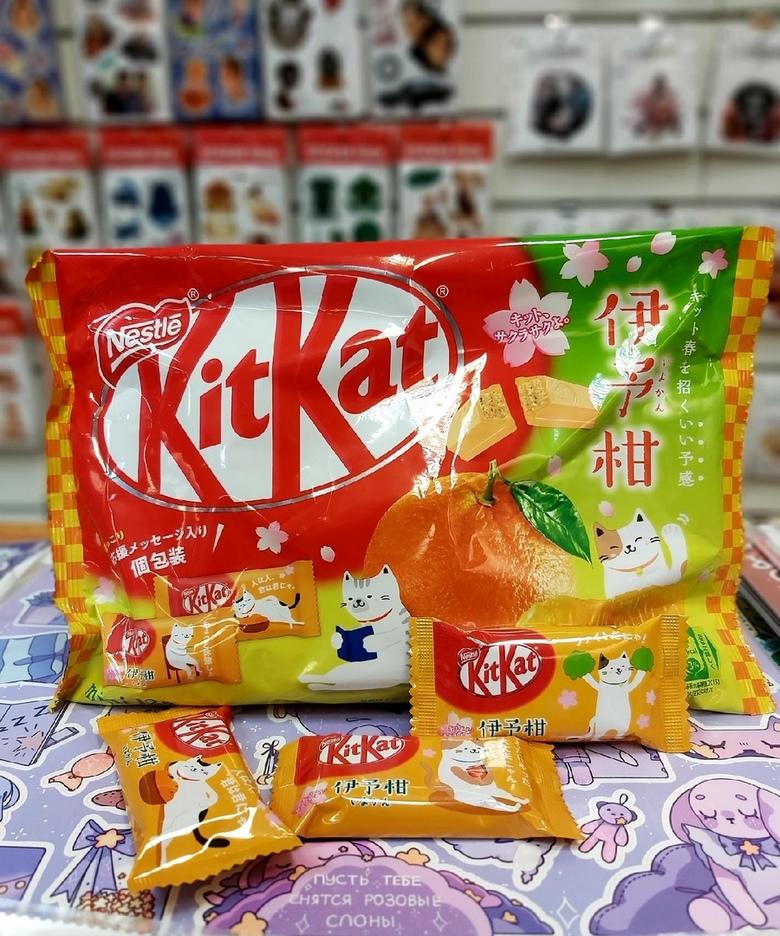 Шоколад Kit Kat со вкусом мандарина (порционный)