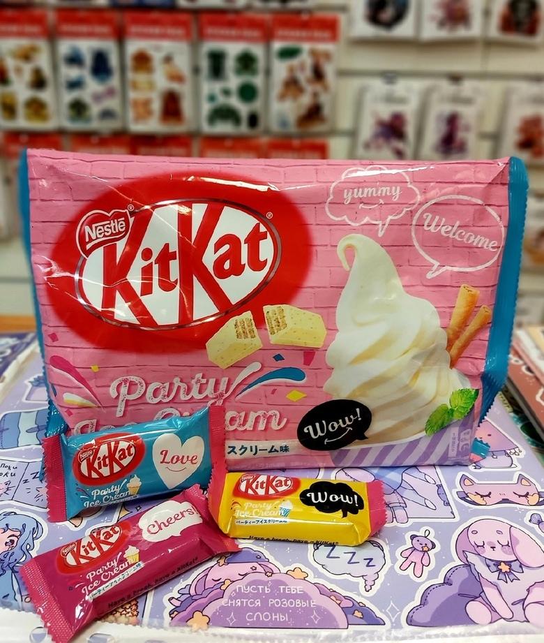 Шоколад Kit Kat со вкусом ванильного мороженого (порционный)