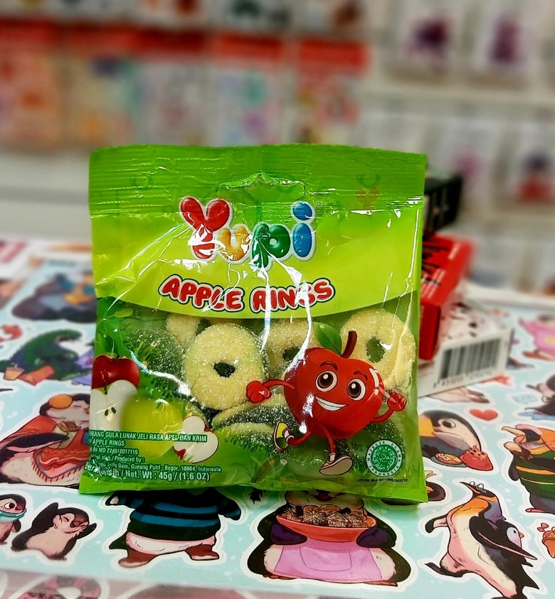 Жевательные конфеты Yupi Apple Rings