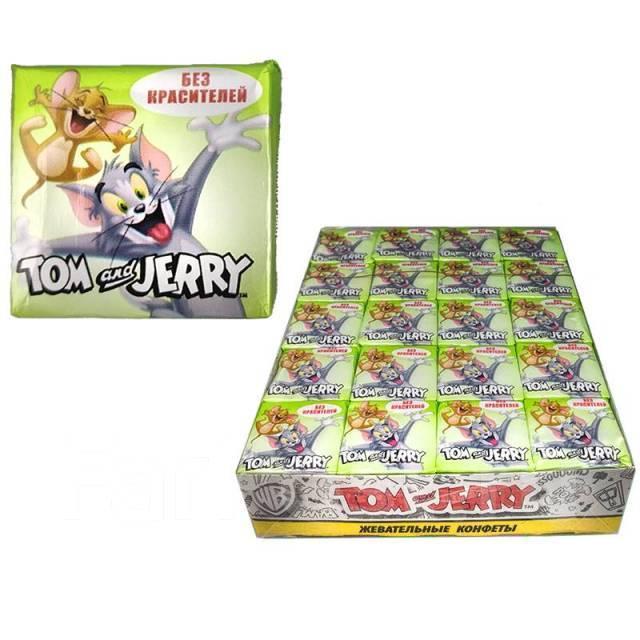 """Жевательные конфеты """"Том и Джерри"""" со вкусом Яблока"""
