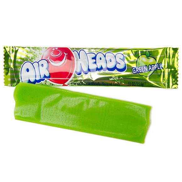 Жевательная конфета AirHeads со вкусом Зеленого яблока