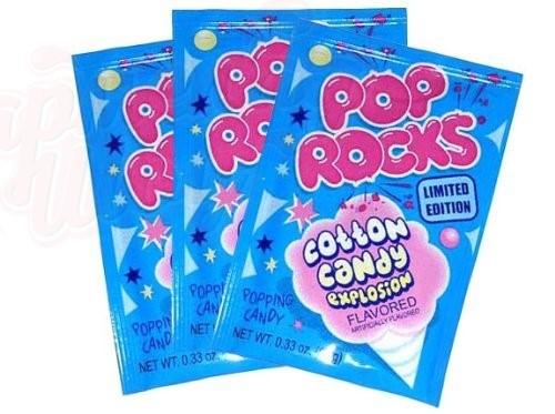 Шипучие Конфеты Pop Rocks Cotton Candy