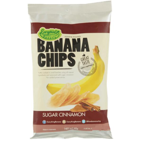Банановые Чипсы Everything Banana с Корицей