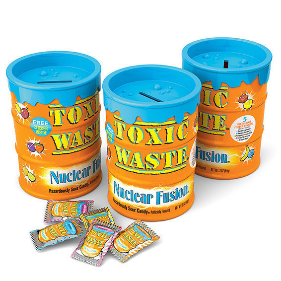 Леденцы Toxic Waste (оранжевая банка)