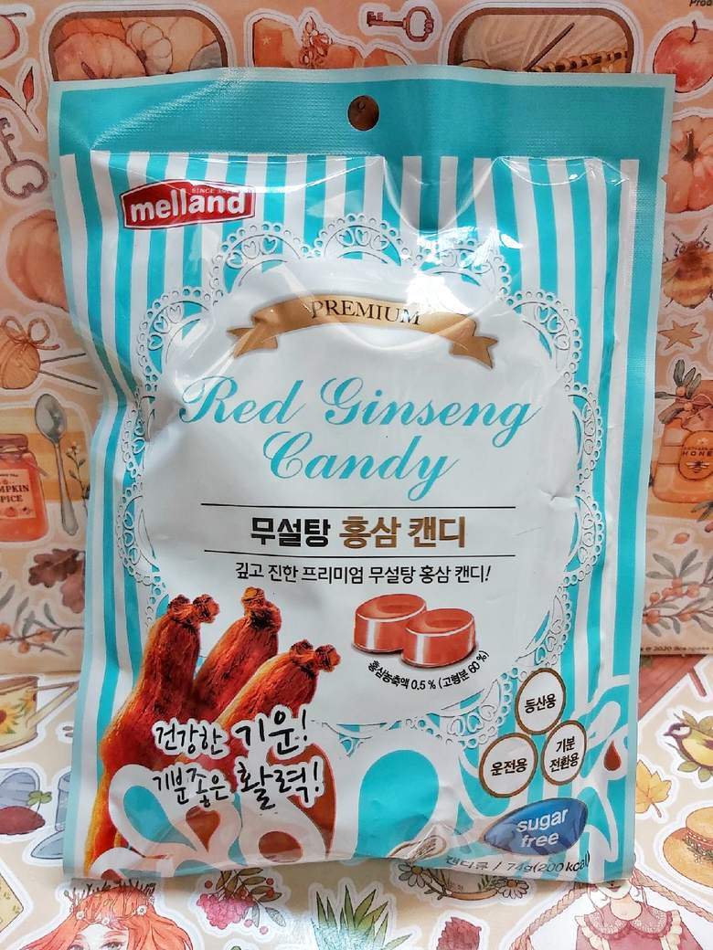 "Карамель без сахара со вкусом красного женьшеня ""Premium Red Ginseng Candy Sugar free"""