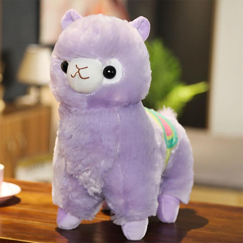 Мягкая игрушка Альпака фиолетовая