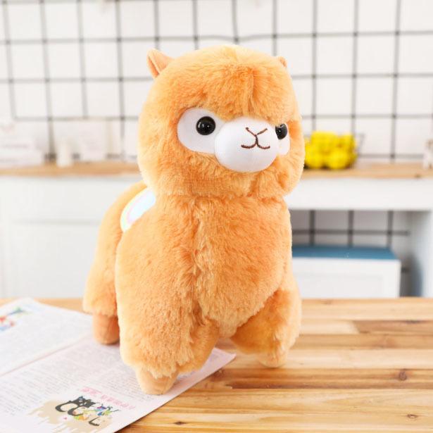 Мягкая игрушка Альпака/Alpaca оранжевая