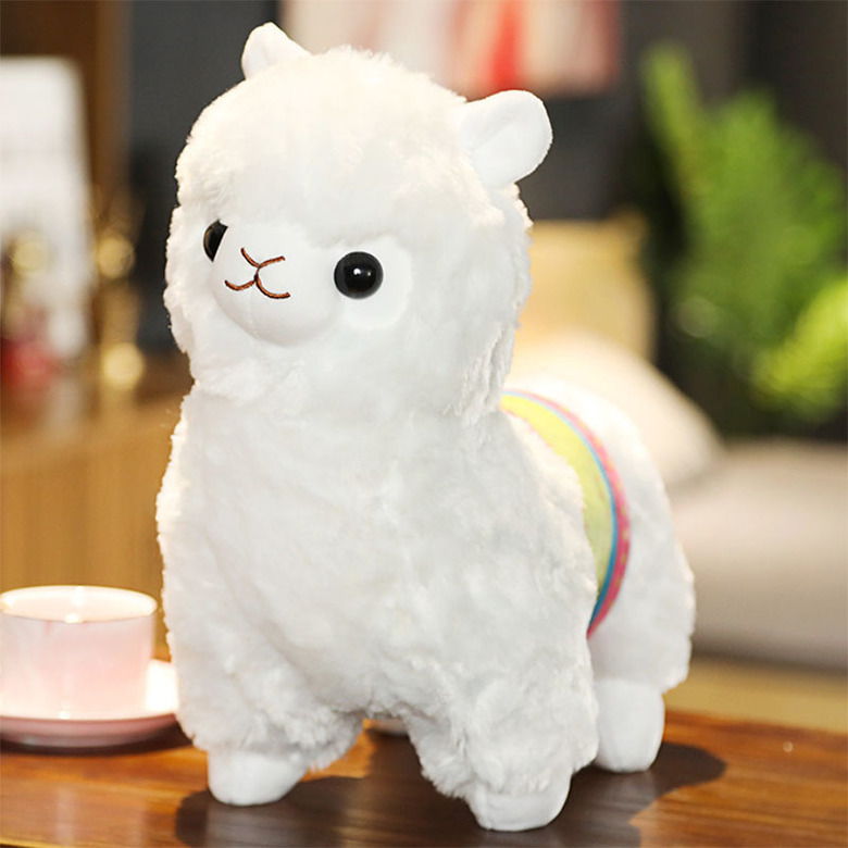 Мягкая игрушка Альпака/Alpaca белая