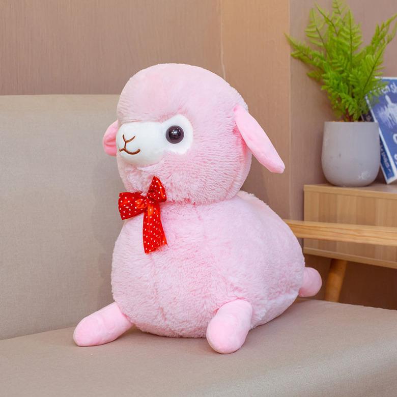 Мягкая игрушка Альпака/Alpaca розовая (2)