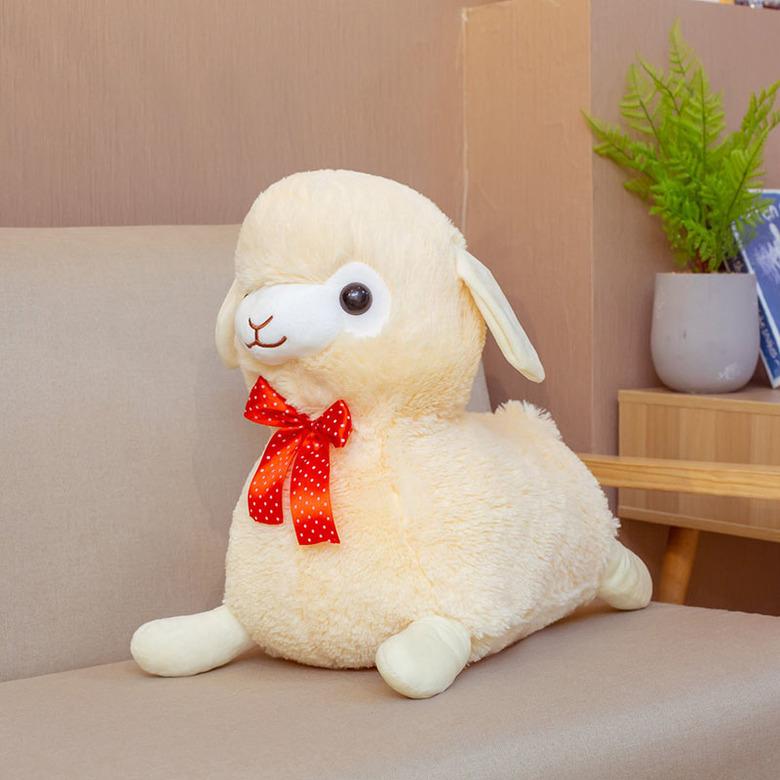 Мягкая игрушка Альпака/Alpaca бежевая