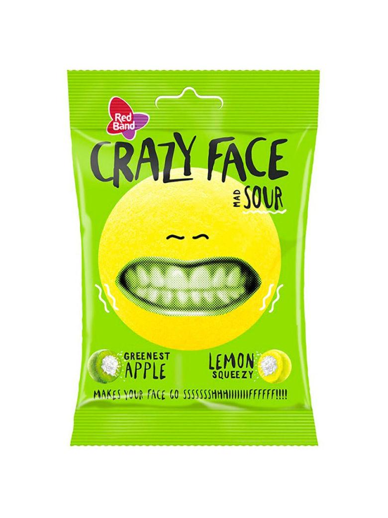 """Мягкий кислый ирис """"CRAZY FACE"""" яблоко/лимон"""