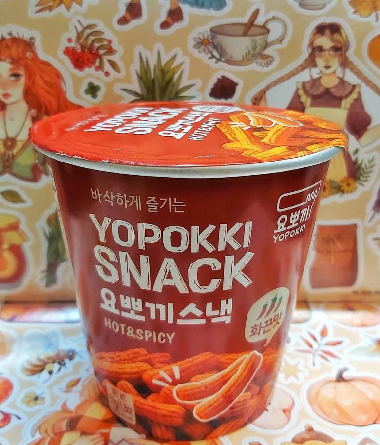 Снэк YOPOKKI остро-пряный вкус