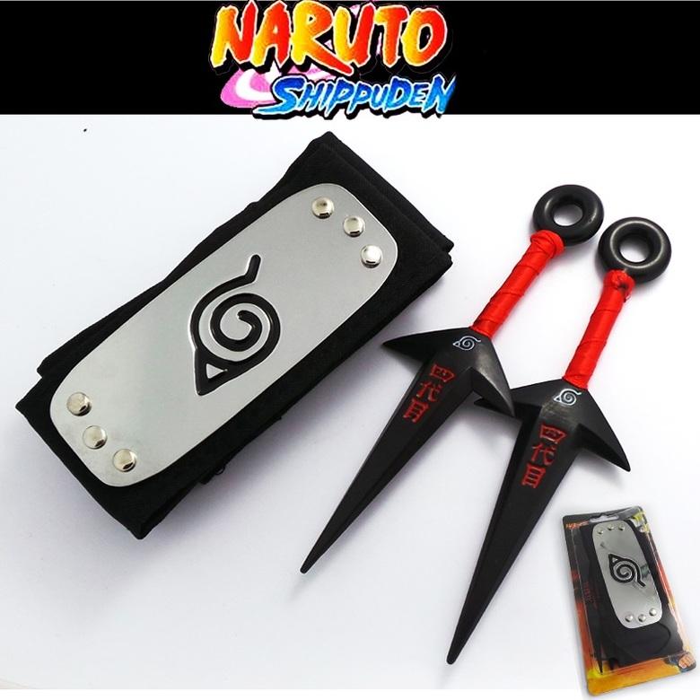 Набор Наруто / Naruto (бандана и 2 куная)