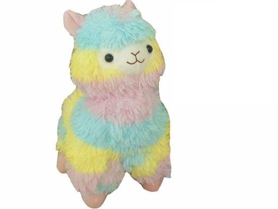 Мягкая игрушка Альпака/Alpaca (радужная, 50 см)
