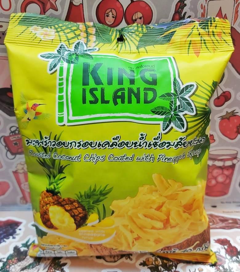 Кокосовые чипсы KING ISLAND с ананасом