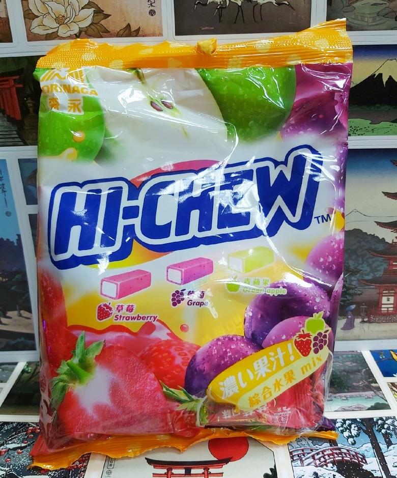 Жевательная конфета Hi - Chew (зел.яблоко,виноград,клубника)