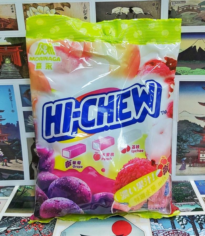 Жевательная конфета Hi - Chew (виноград,персик,личи)