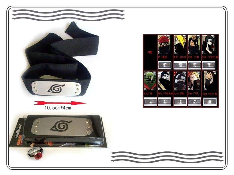 Набор Наруто\Naruto (бандана и кольцо)