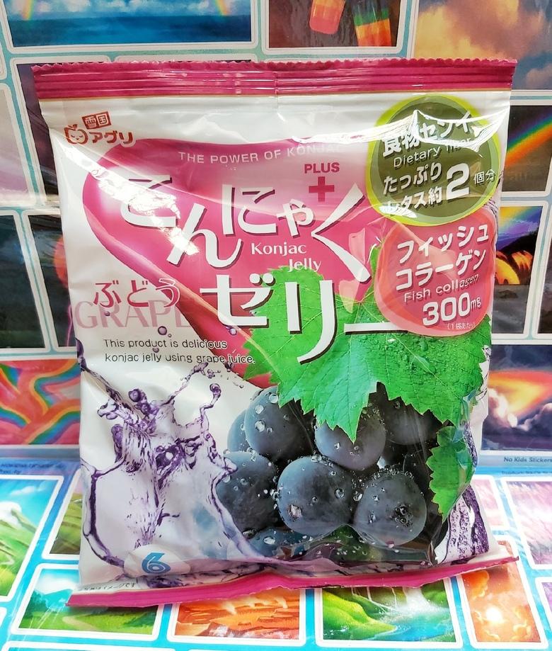 """Желе """"Yukiguni Aguri"""" Конняку со вкусом Винограда"""
