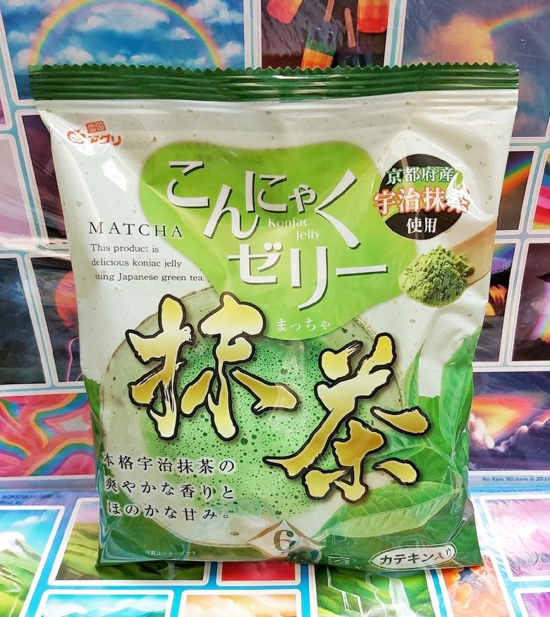 """Желе """"Yukiguni Aguri"""" Конняку со вкусом Зеленого чая"""