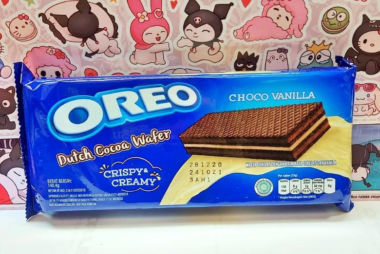 Вафли oreo Dutch Wafer шоколадно-ванильные