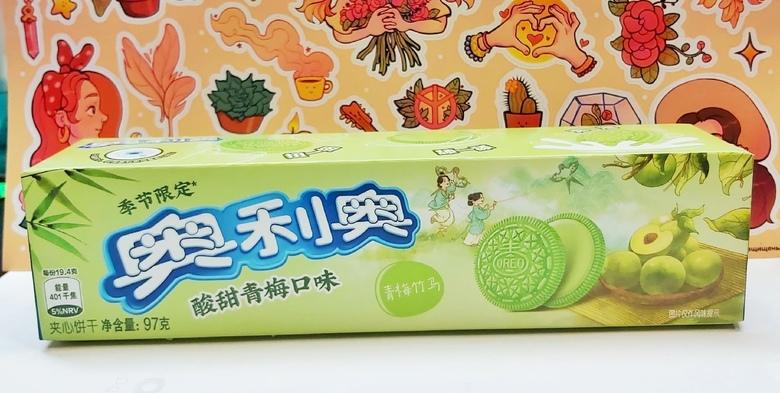Печенье Oreo со вкусом сливы и зеленого чая