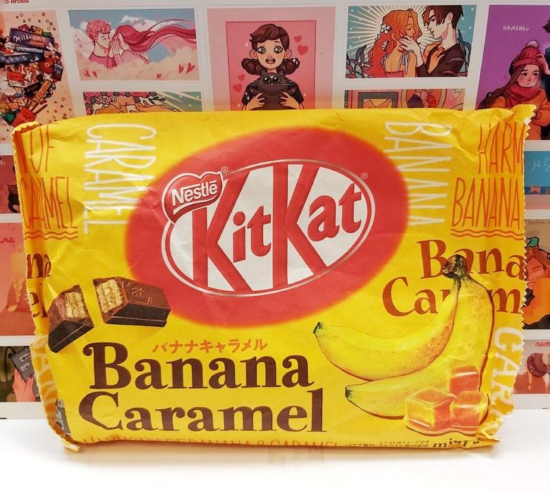 Шоколад Kit Kat со вкусом банана и карамели